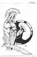 Greek Hoplite, Argive soldier by Kid-Destructo