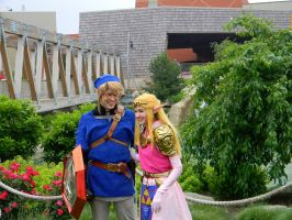 Link and Zelda by EndOfGreatness