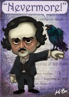 Edgar Allan Poe Art Card by kevinbolk