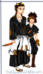 Bleach OC's: Fifth Captain and Lieutenant by Chicky--poo