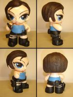 Jill Valentine Munny 4 angles by Flame-Ivy