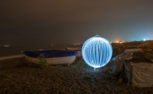 Ball of light on the beach. by chivt800