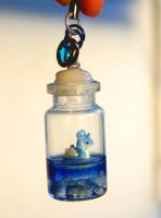 Lapras in a Bottle Charm/Necklace by ArachRoy