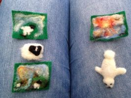 Needle Felting - The First Creations by emmatje93