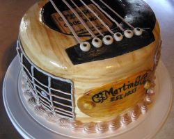 Guitar Cake by DancesWithWacom
