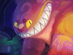 His grin was like that of a Cheshire Cat by bigblueghost