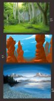 background and landscape practice by Sooper-Kitsune
