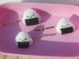 Onigiri Hair Pins by Love-Who