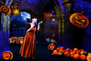 Halloween Witching Hour by Amliel
