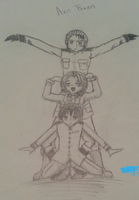 Hetalia Axis Powers - The Symmetrical Pose by mudnoseandleafstorm