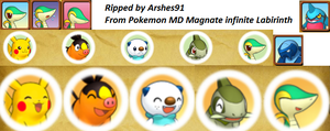 Pokemon Mistery Dungeon 5: pre icons pokemon by Arshes91