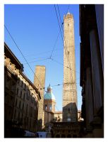 Bologna's two towers by cyrano82