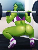She-Hulk commission by Naavs