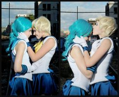 Kisses for Michiru by Emmaliene