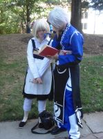 AWA '13: Marisa Kirisame and Rinnosuke Morichika by NaturesRose