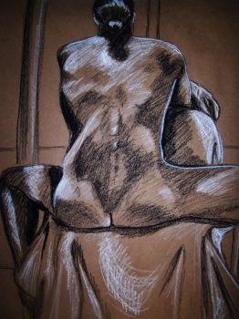 Sitting Male Nude by mmmlewon