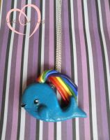 Commission:- Happy Whale Charm by ilikeshiniesfakery