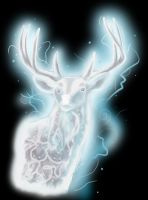 Harry Potter - stag Patronus by shemara