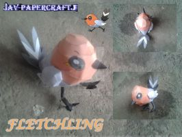 fletching papercraft by javierini