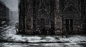 snow in the city by cahilus