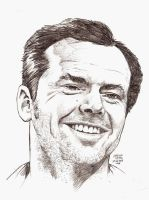 JACK NICHOLSON in an hour by MalevolentNate