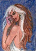 Rogue Sketch Card - Acrylic Practice by ArtOfRivana