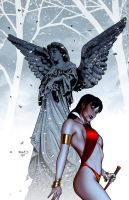 Vampirella 19 cover by PaulRenaud