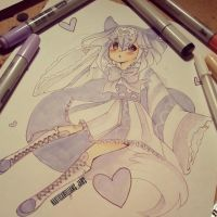 Purple Heart Fox by NauticaWilliams