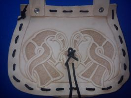 Celtic leather beltbag 3 by Zarganath