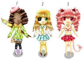 Chibi Adotable set [ALL SOLD] by MilanaMill