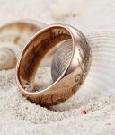 Rose Gold Plated Tungsten The Lord of the Rings by TungstenRepublic