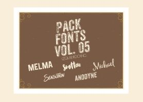 Pack Fonts Vol. 05 by IzquierdoInc