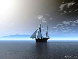Setting Sail by TheFaceArtiste