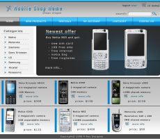 Mobile phone shop by P-RexNS by webgraphix