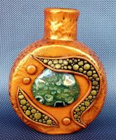 Gold Vase with Rhyolite Jasper by MandarinMoon