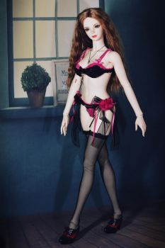 Walking with Hot Pink Lingeries 4 by CelineHot