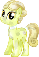 Crystal Spa pony Golden Glitter by Vector-Brony