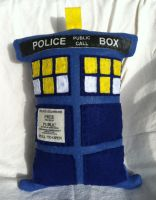 Tardis Plush Pillow by MBrazee