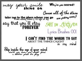 Lyrics Brushes 001 by hiimlucifer