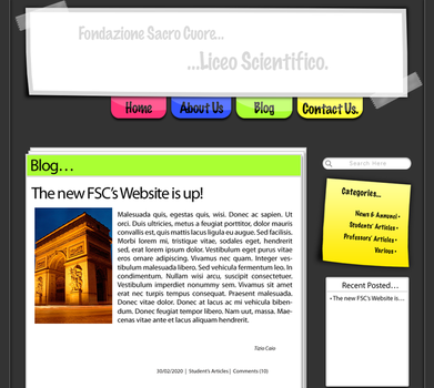FSC Web Site by SmellTheRoses93