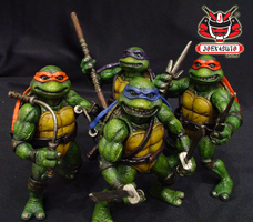 TMNT THE MOVIE 1990 REPAINT 17 by wongjoe82