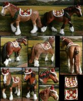 Schleich custs: Christmas horses by Schleichgirl1976