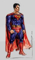 Movie Superman Concept Sketch by hoganvibe