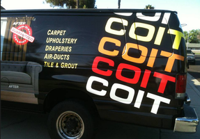 Back of Coit Vehicle Wrap by Hannele-Kahkonen