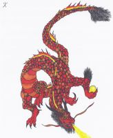 Japanese lava Dragon-Colored by NINJAWERETIGER