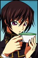 Lelouch: Coffee by zomgspongelolbob48