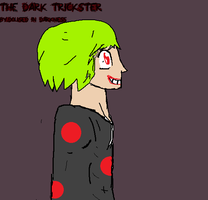 New creepypasta oc: The dark trickster by DousedInDarkness