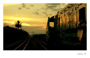 train sunset.. by popalogic