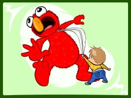 The Slaying of Elmo by SvMoyvin