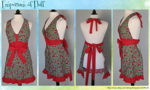 Retro Cherry Apron by Yukizeal